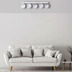 Sfera Wood White Ceiling Lamp 5x E14 small 4
