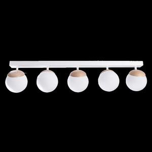 Sfera Wood White Ceiling Lamp 5x E14 small 6