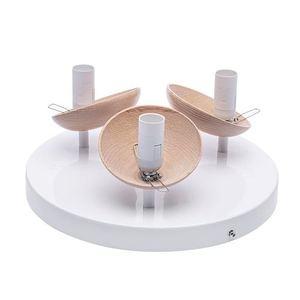 Sfera Wood White Ceiling Lamp 3x E14 small 1