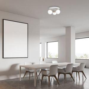 Sfera Wood White Ceiling Lamp 3x E14 small 7
