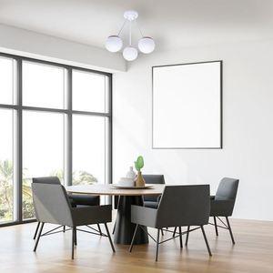Sfera Wood White Ceiling Lamp 3x E14 small 5