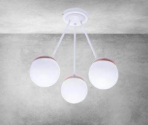 Sfera Wood White Ceiling Lamp 3x E14 small 6