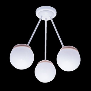 Sfera Wood White Ceiling Lamp 3x E14 small 8