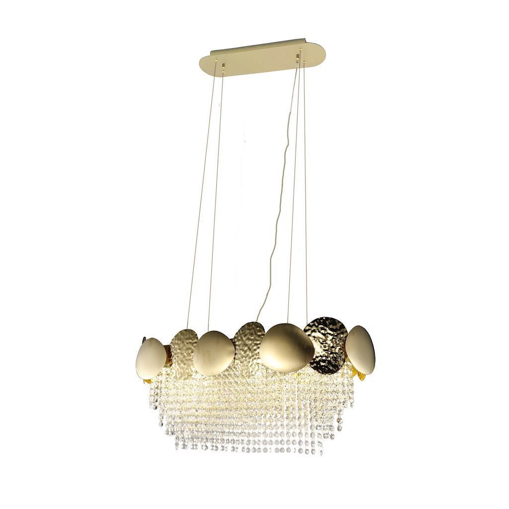 Lord Ii Gold Crystal Chandelier 8x Gu10
