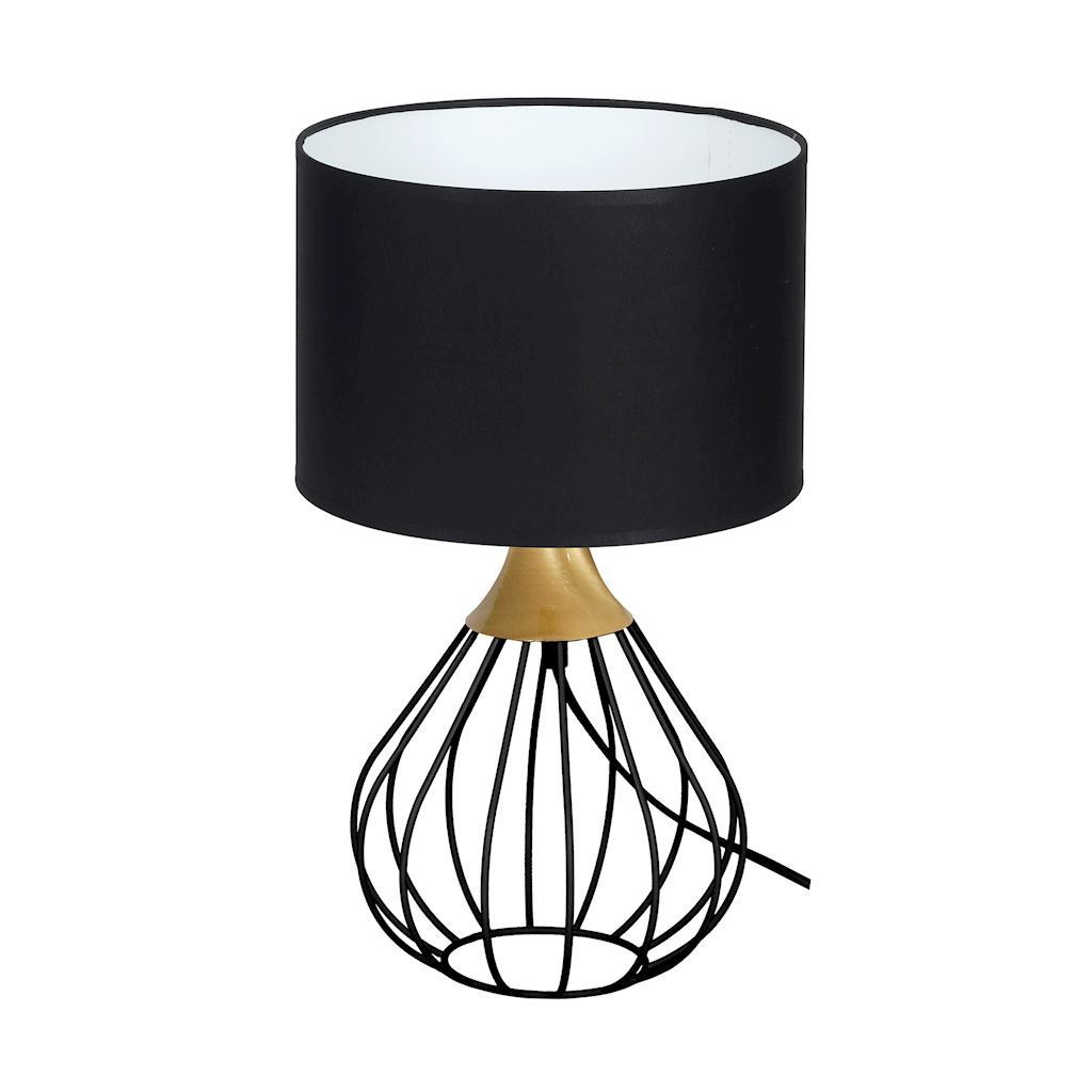 Black Kane Black 1x E27 Table Lamp