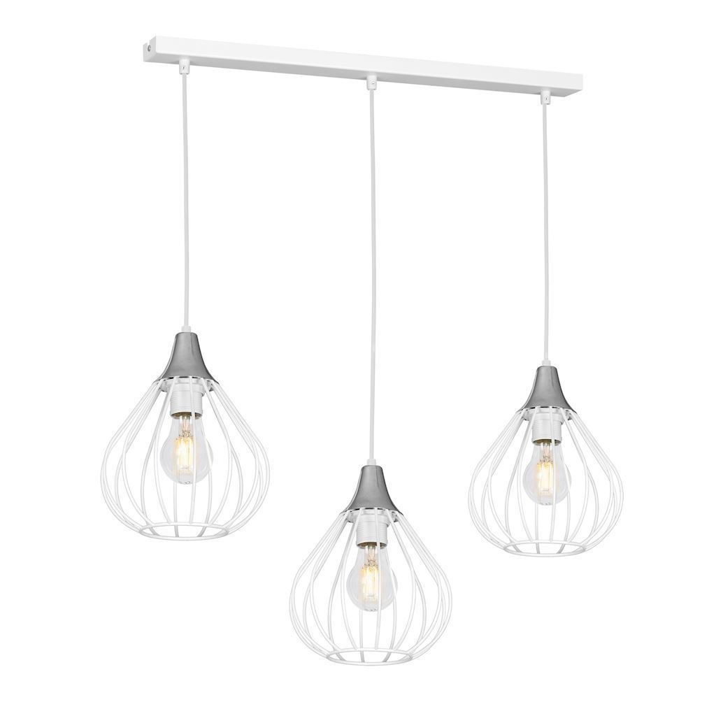 White Hanging Lamp Kane White 3x E27