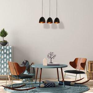Black Vegas Hanging Lamp 3x E27 small 1