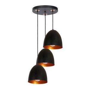 Black Vegas Hanging Lamp 3x E27 small 0