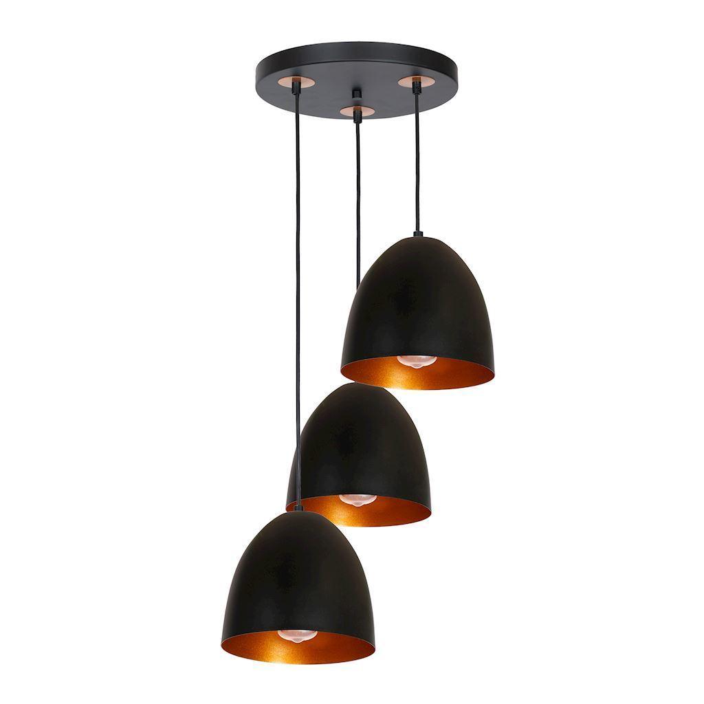 Black Vegas Hanging Lamp 3x E27