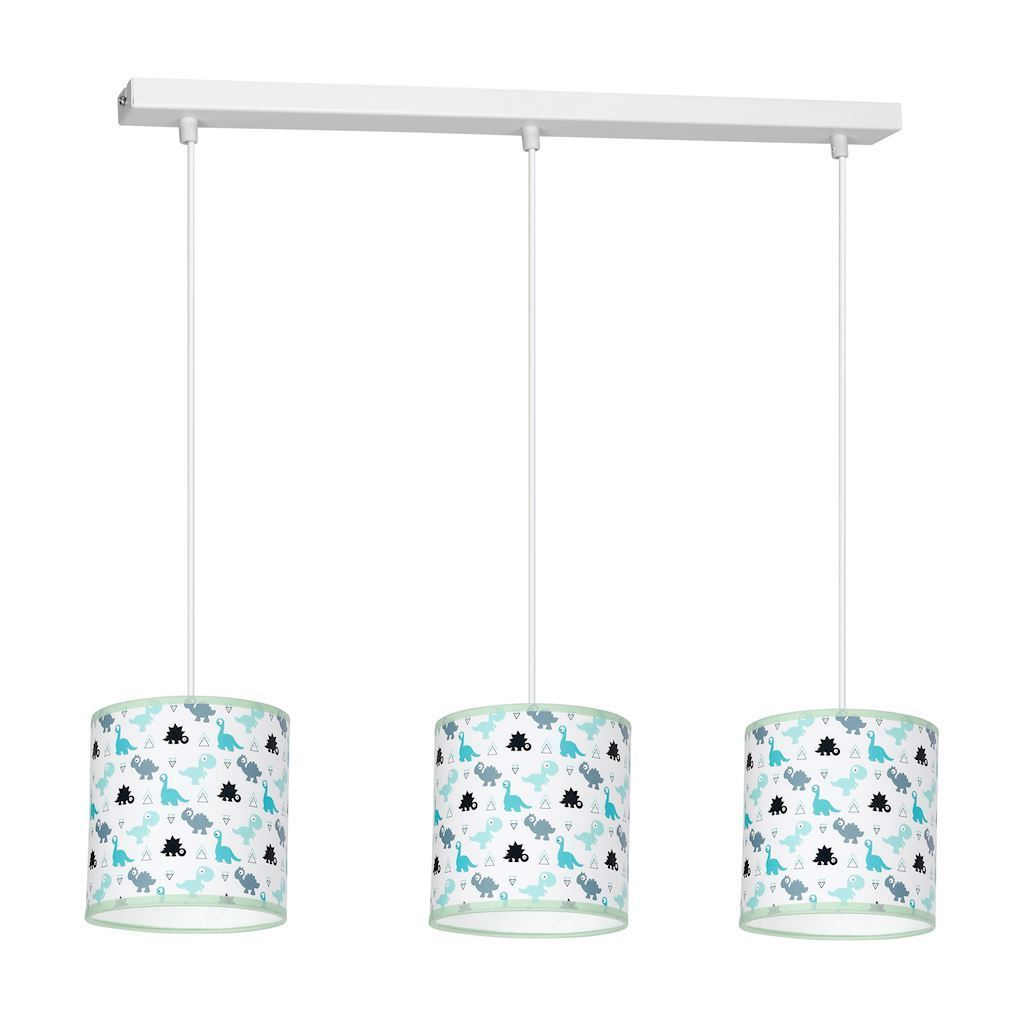 Multicolor Hanging Lamp Dino 3x E27