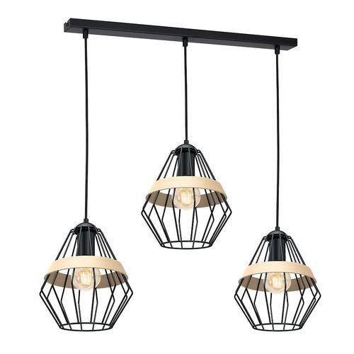Black Hanging Lamp Cliff Black 3x E27