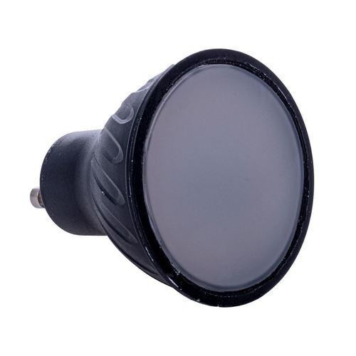 Black LED Bulb 7W Gu10. Color: Neutral