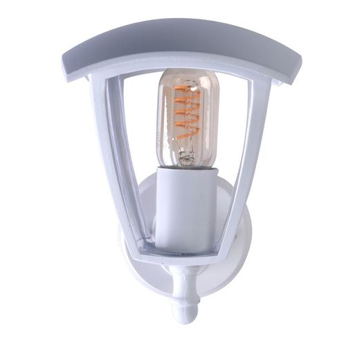 Fox White 1x E27 IP44 Garden Wall Lamp