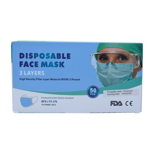 Three-layer protective mask (pack of 50)