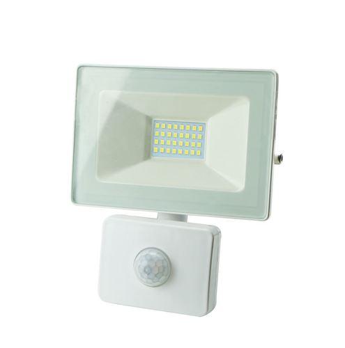 White LED Floodlight 10 W Pir IP65