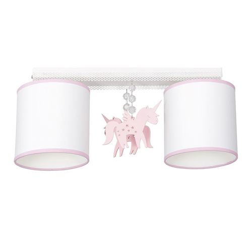 White Ceiling Lamp Uni 2x E27