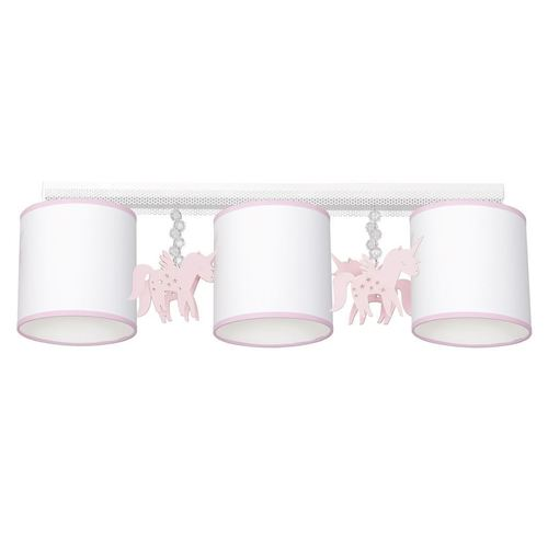 White Ceiling Lamp Uni 3x E27