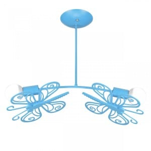 Butterfly sconce blue small 4