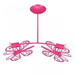 Butterfly 2 ceiling lamp red small 1