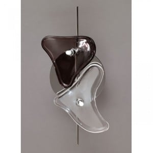 Otto 2 wall lamp black and white small 0