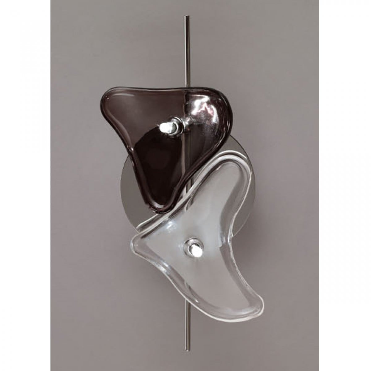 Otto 2 wall lamp black and white