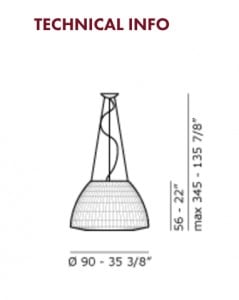 Hanging lamp AXO Light Bell SP090 small 2