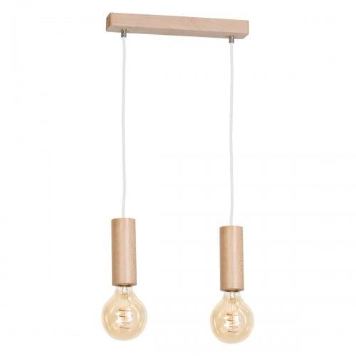 Hanging lamp Milagro BOSCO 612 Natural wood 2xE27 40W