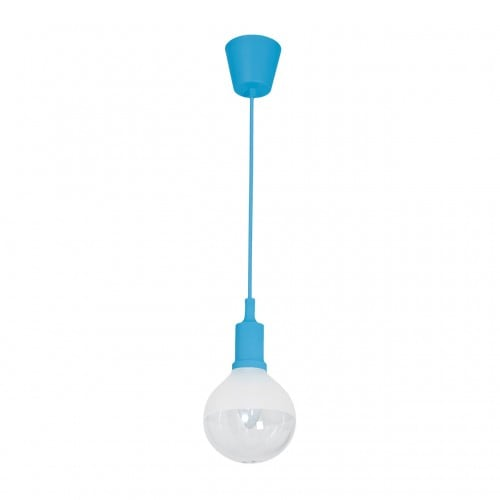 Hanging lamp Milagro BUBBLE BLUE 457 Blue 5W