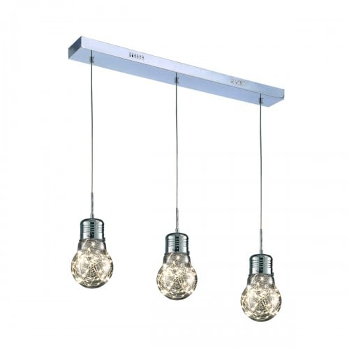 Hanging lamp Milagro BULB 136 Chrome 15W
