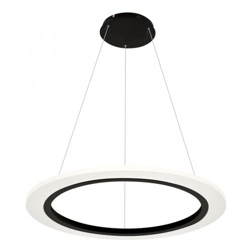 Hanging lamp Milagro COSMO 347 Sand black 24W