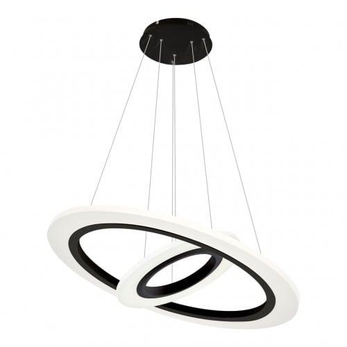 Hanging lamp Milagro COSMO 348 Sand black 36W