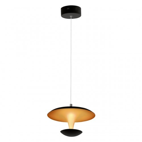 Pendant lamp Milagro COSTA 359 Mat black / Matte gold 12W