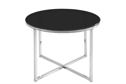 ACTONA coffee table CROSS black - glass, chrome