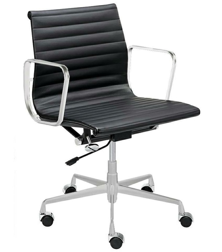 Office chair BODY PRESTIGE PLUS chrome - natural leather, aluminum
