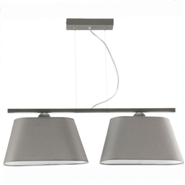 Modernist Ceiling Lamp Hanging Gray WALERIA
