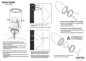 External wall lamp Carpyen MORGAN 45 ° BARCELONA small 5