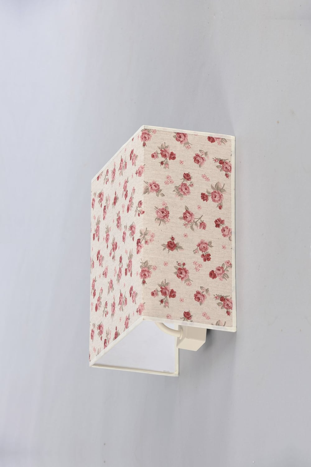 Fabric Sconce in Rosette Square Shabby Chic