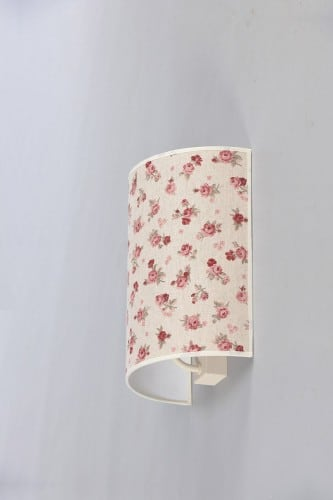 Fabric sconce in Shabby Chic half-cylinder Shabby Chic