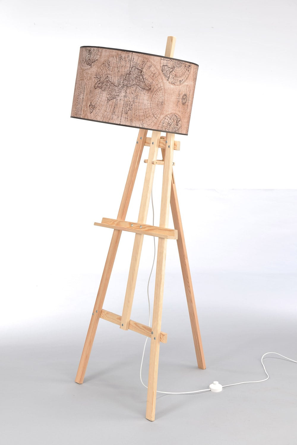 Floor Lamp Easel Light Wood No. 2473