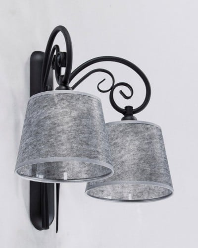 Double wall lamp ADARA BLACK No. 3539