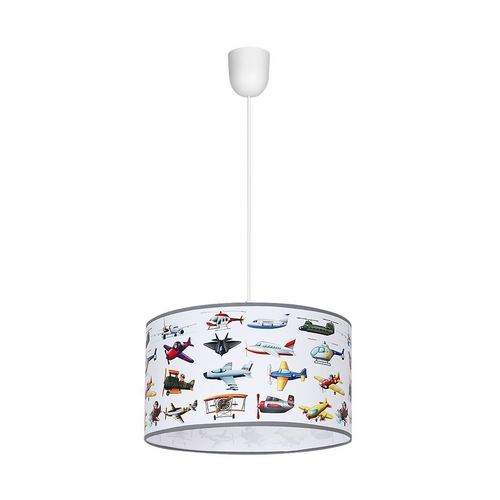 Planes 1x E27 Multicolor Hanging Lamp