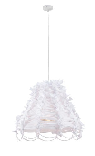 Hanging lamp ART DECO WHITE No. 3849