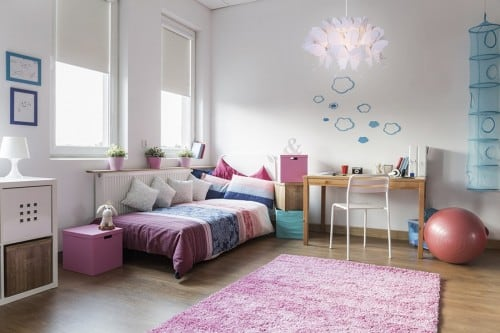 Hanging lamp for child Farfalla light pink