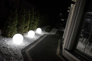 Electric luminous ball - Flexi Ball Electric 30 cm with cable and bulb small 5