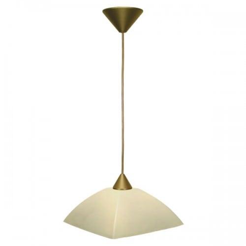 Lampa wisząca Zwis 1-pł.amber 28cm FARAON Beżowy
