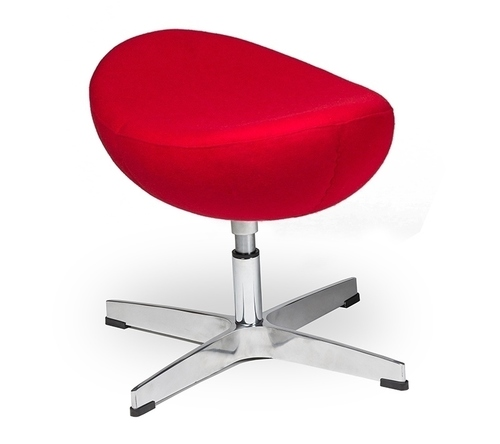 EGG CLASSIC red 17 footrest - wool, aluminum base