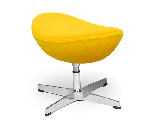 Footrest EGG CLASSIC yellow sunny.36 - wool, aluminum base