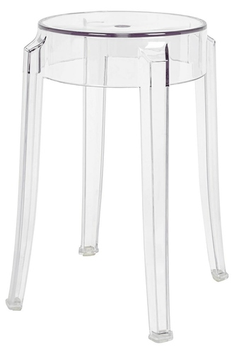 Stool CHARLES 46 transparent - polycarbonate