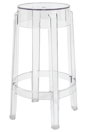 Bar stool CHARLES 65 transparent - polycarbonate