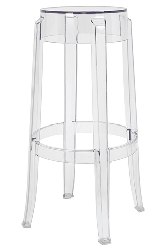 Bar stool CHARLES 76 transparent - polycarbonate